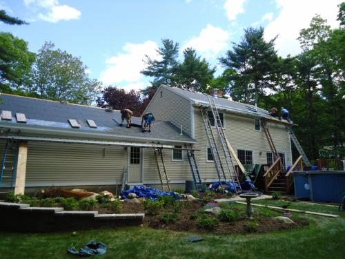 Dave Deschaine Roofing - Roof In Progress